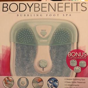 Conair BODY BENEFITS Bubbling Foot Spa